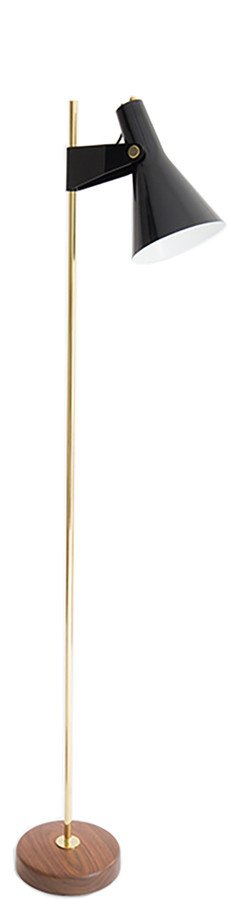Floor Lamp B4 Brass 150 cm by R. J. Caillette for Disderot
