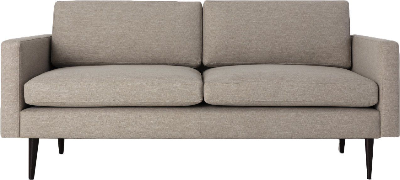 Model 01 Linen 2 Seater Sofa Pumice, Swyft