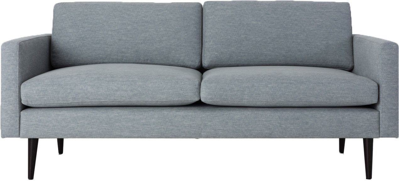 Model 01 Linen 2 Seater Sofa Seaglass, Swyft