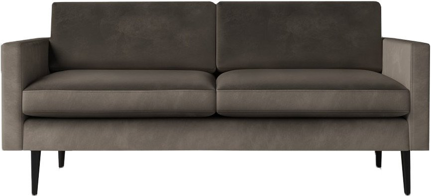 Model 01 Velvet 2 Seater Sofa Elephant, Swyft
