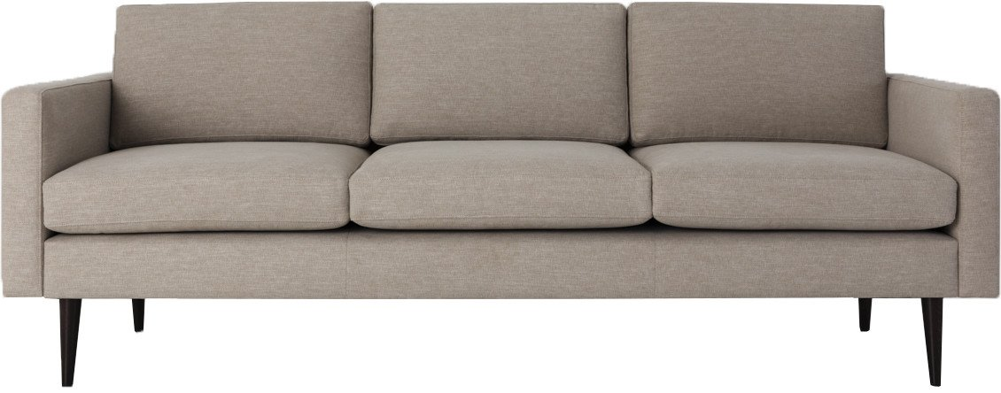 Model 01 Linen 3 Seater Sofa Pumice, Swyft