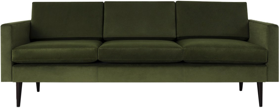 Model 01 Velvet 3 Seater Sofa Vine, Swyft