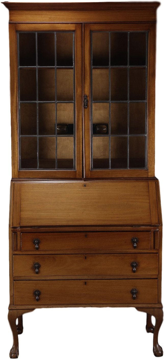 Secretary Desk with Vitrine, early 20th C.