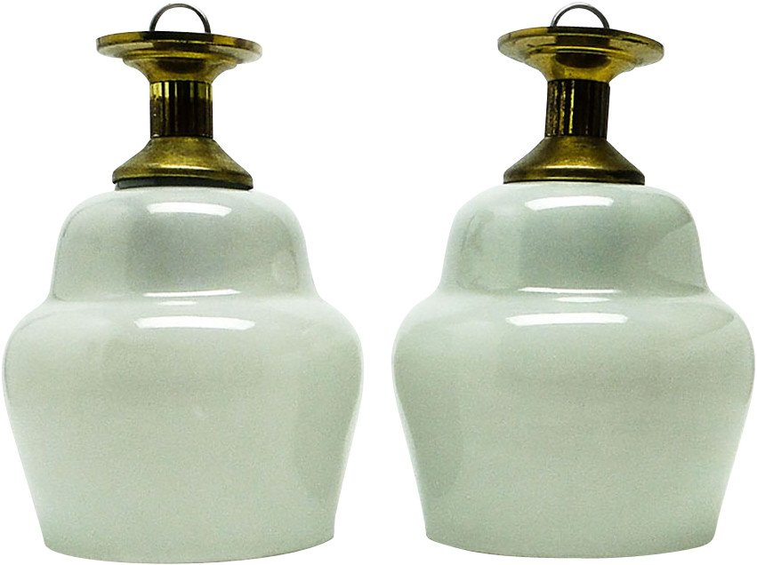 Pair of Pendant Lamps, Poland, 1960s
