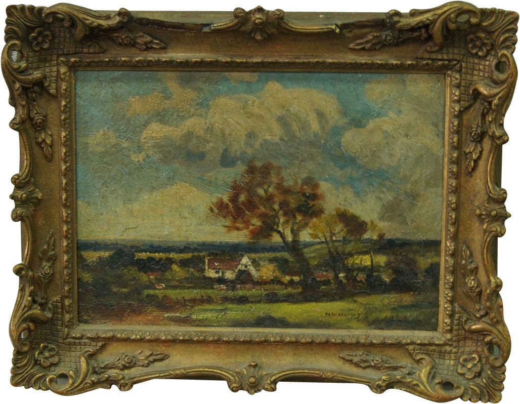 Oil Painting by M. Watling, United Kingdom, early 20th C.