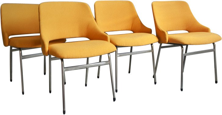 Set of Four FM32 Chairs by C. Braakman, Pastoe, Netherlands, 1960s