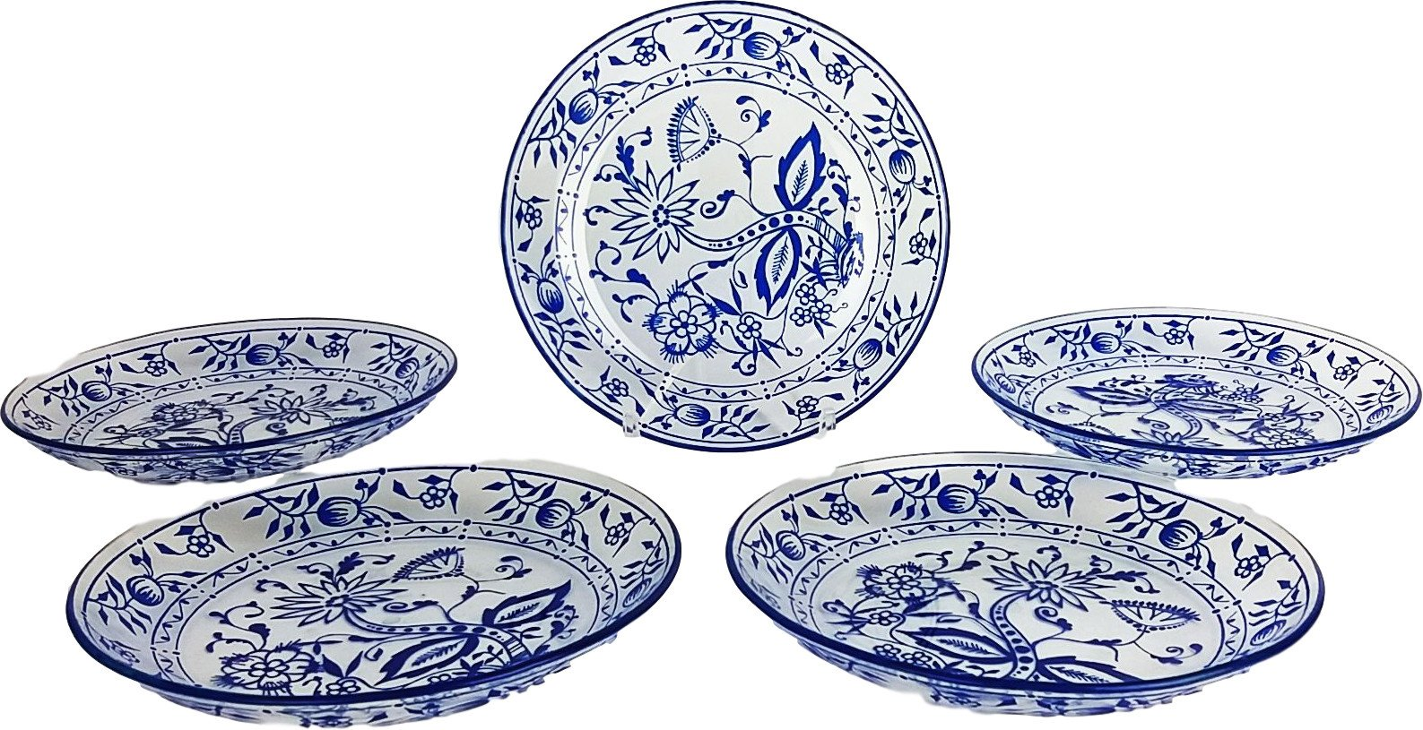 Set of Five Plates, Poland, 1980s