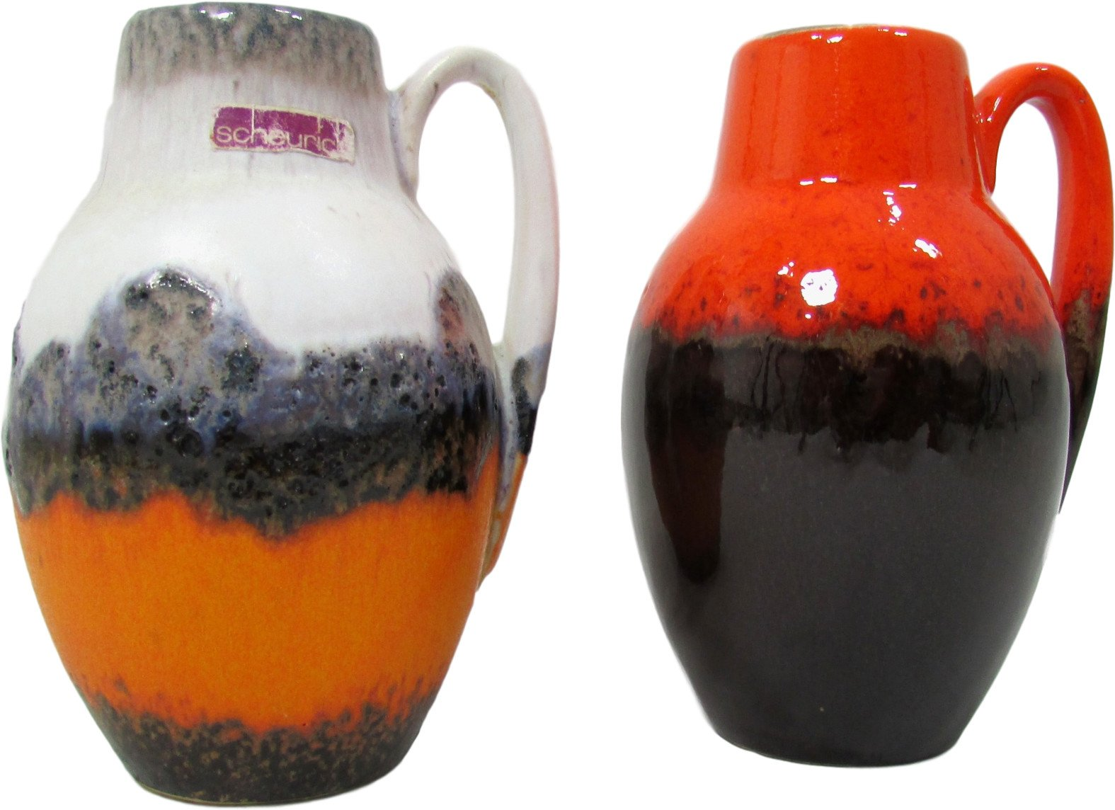 Pair of Vases, Scheurich, Germany, 1960s