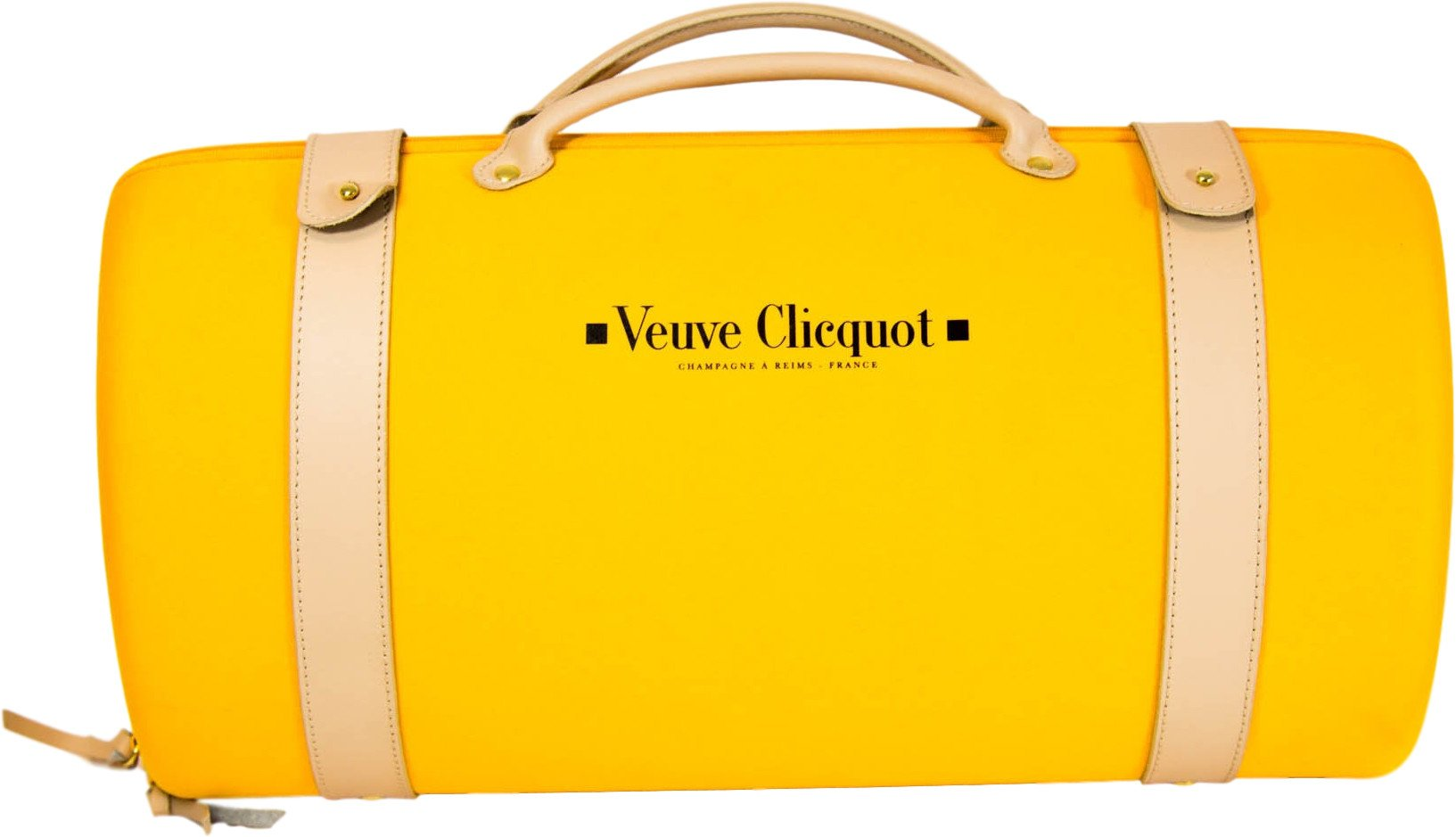 Carrier for Champagne Bottle and Two Glasses, Veuve Clicquot, France, 1990s