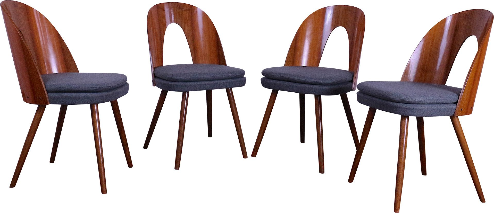 Set of Four Chairs by A. Suman for MIER, Czechoslovakia, 1960s