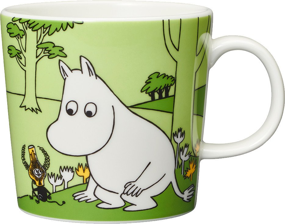 Moomintroll Green Cup 0.3L by T. Slotte for Arabia Finland