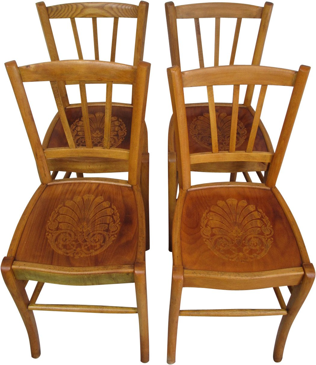 Set of Four Chairs, Austria, 1950s