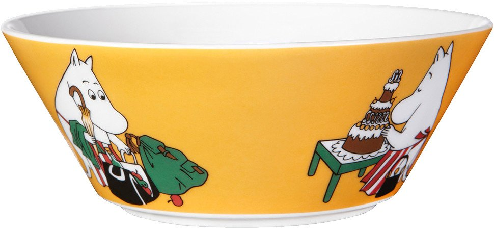 Moominmamma Apricot Bowl 15cm by T. Slotte for Arabia Finland