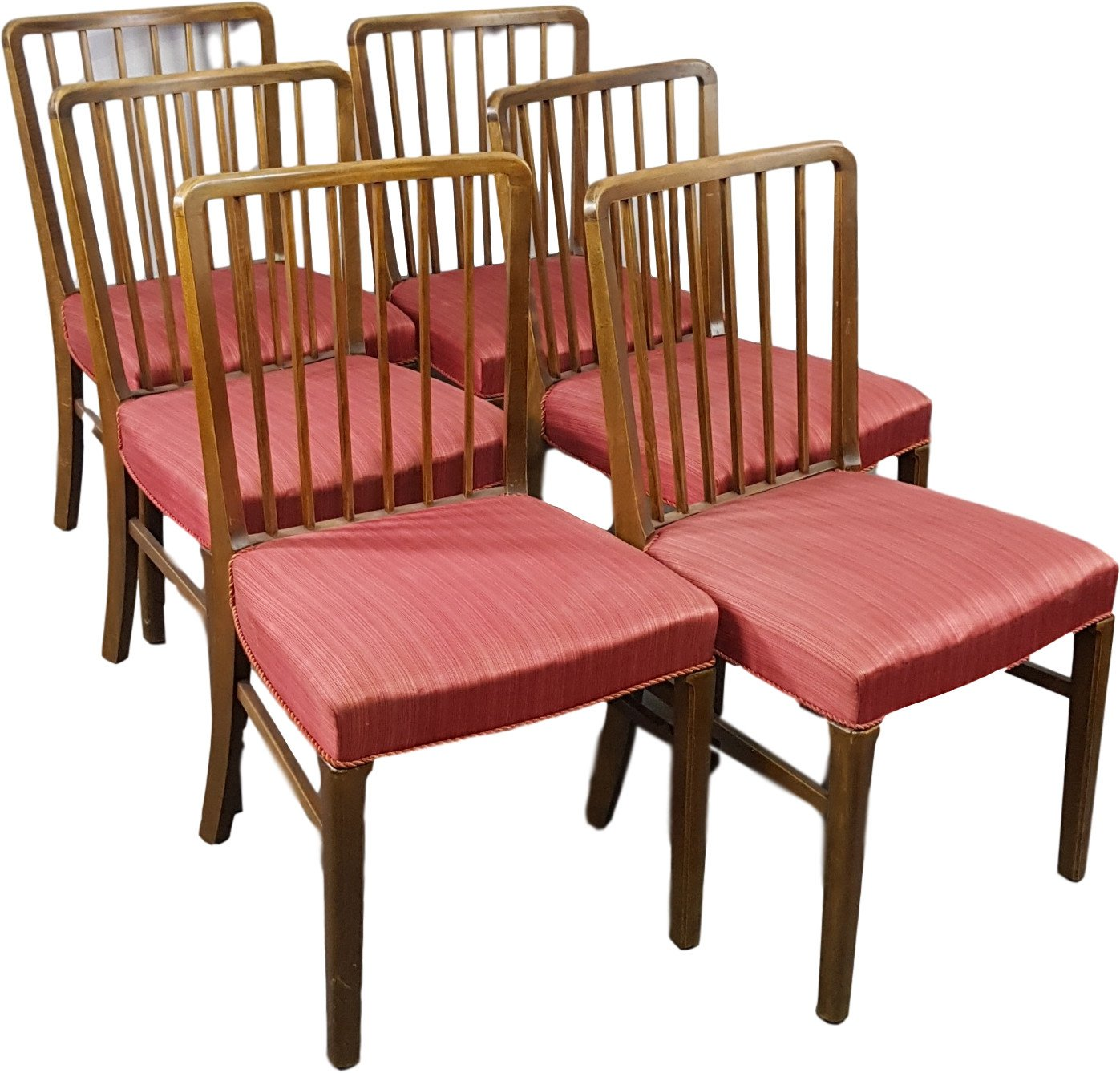 Set of Six Chairs, Denmark, 1930s