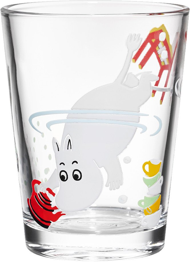 Moomintroll Glass 0.22L by T. Slotte for Arabia Finland