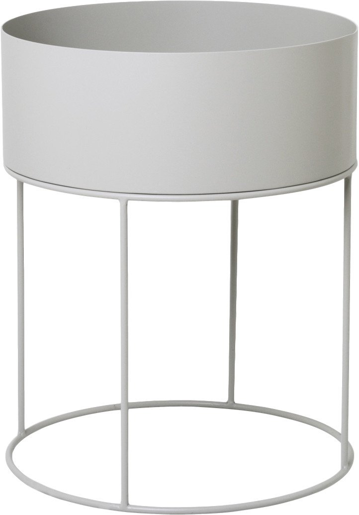 Plant Box Round Light Grey, ferm LIVING
