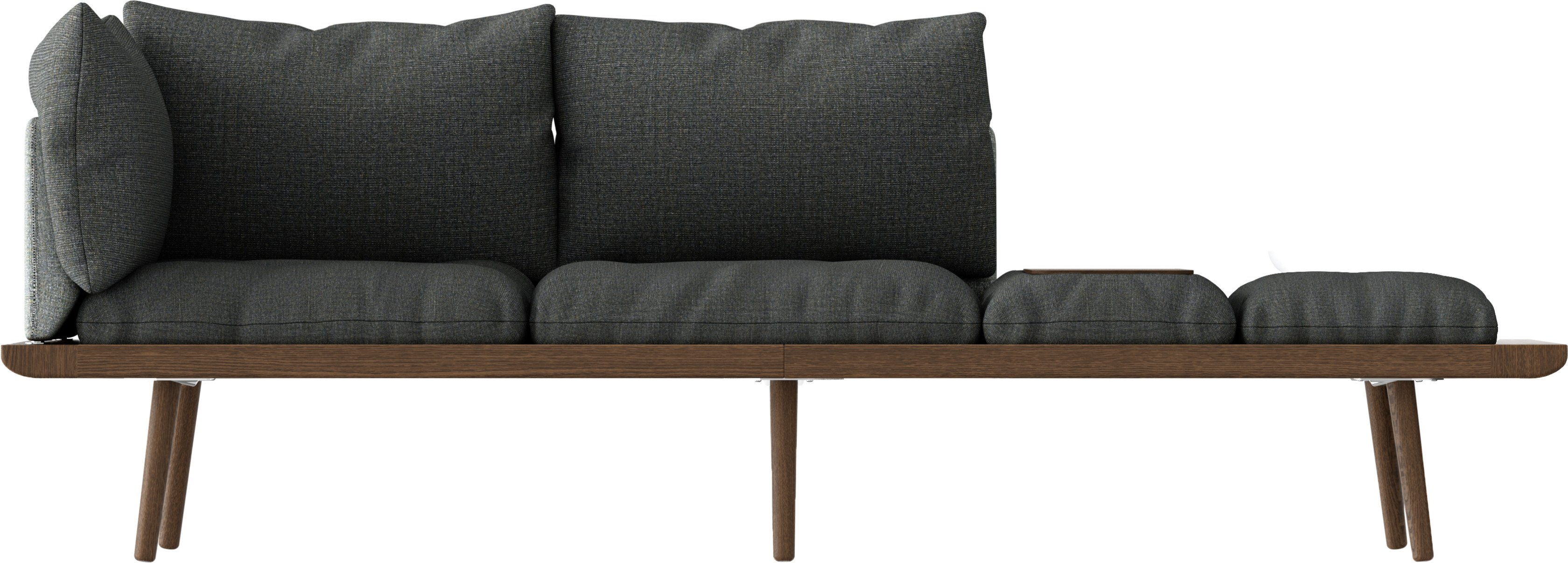 Lounge Around 3-seater Sofa Dark Oak by S. R. Christensen for UMAGE
