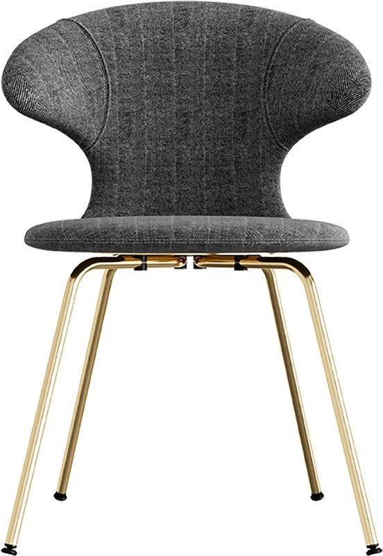 Time Flies Chair Tweed/Leather Brass by J. Søndergaard for UMAGE