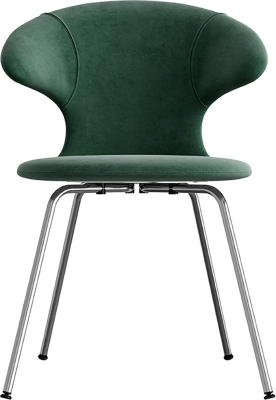 Time Flies Chair Forest Green Chrome by J. Søndergaard for UMAGE