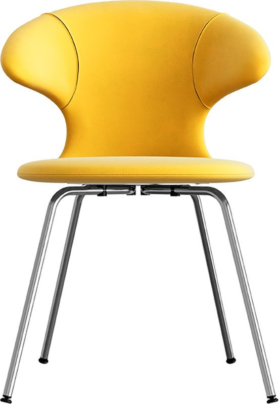 Time Flies Chair Canary Yellow Chrome by J. Søndergaard for UMAGE