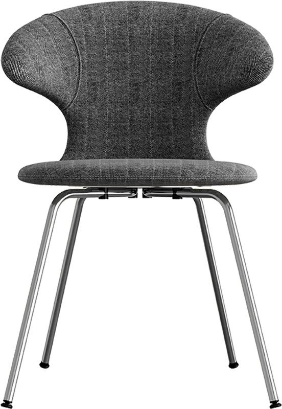 Time Flies Chair Tweed/Leather Chrome by J. Søndergaard for UMAGE