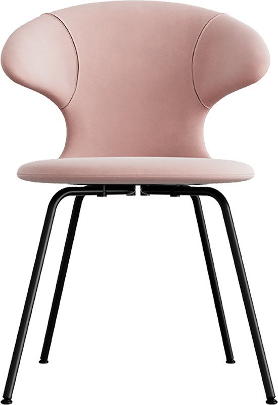 Time Flies Chair Pale Rose Black Steel by J. Søndergaard for UMAGE