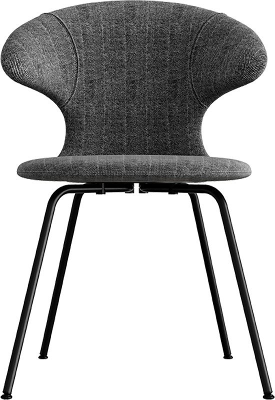 Time Flies Chair Tweed/Leather Black Steel by J. Søndergaard for UMAGE