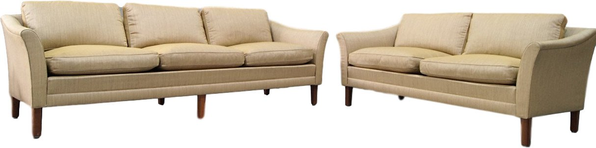 Pair of Sofas by F. Ohlsson for Dux, Sweden, 1960s
