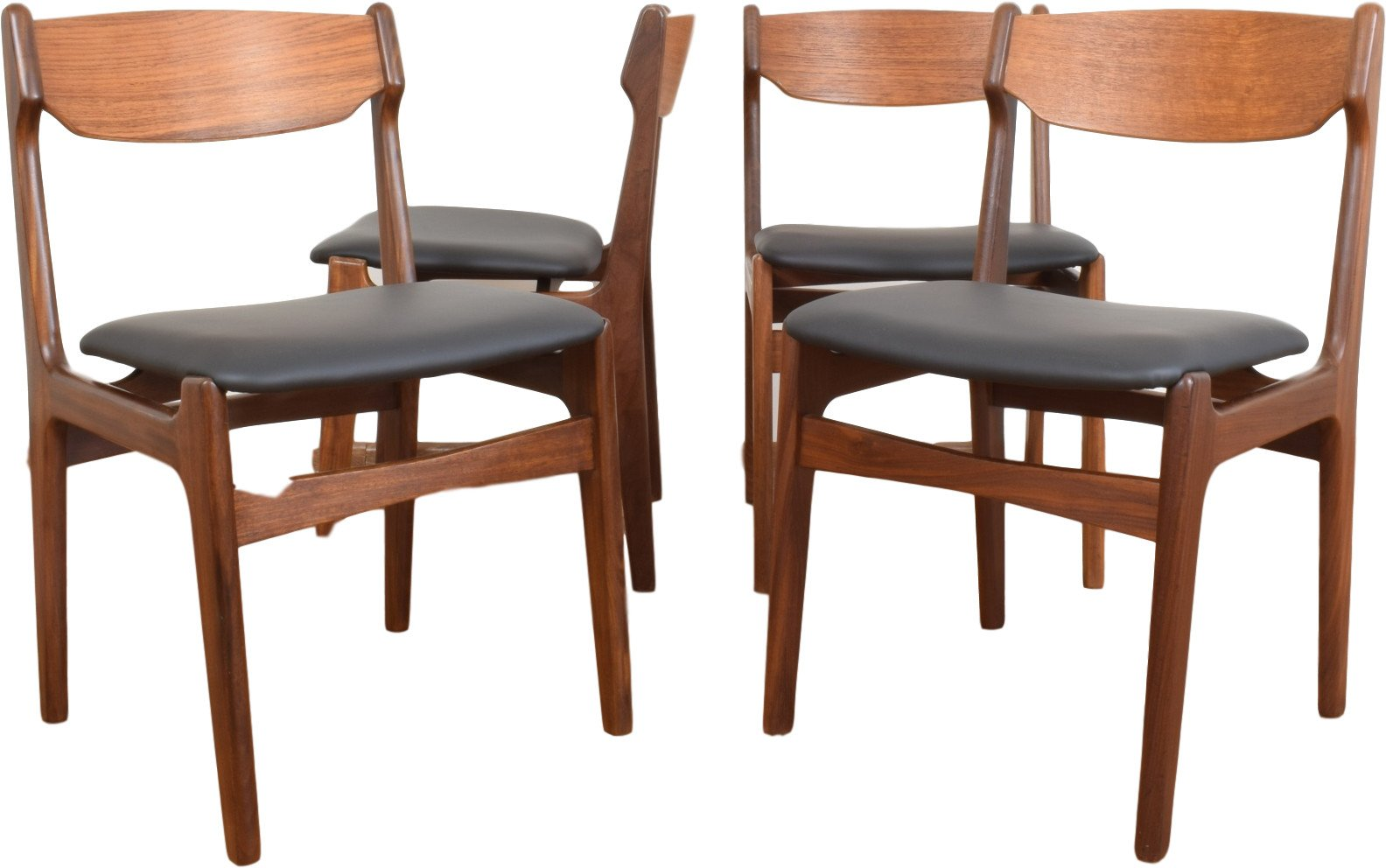 Set of Four Chairs by E. Buch, Denmark, 1960s