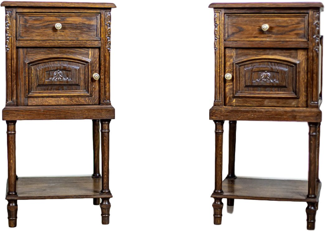 Pair of Nightstands, 19th C.