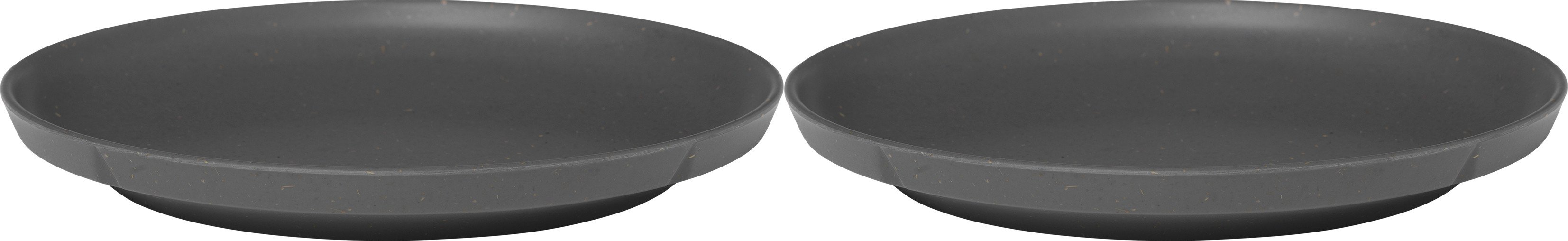 Grand Cru Take Plate 2 pcs. Ø19.5 cm Dark Grey, Rosendahl