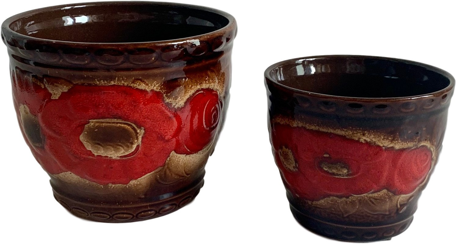 Pair of Flowerpots, Germany, 1960s