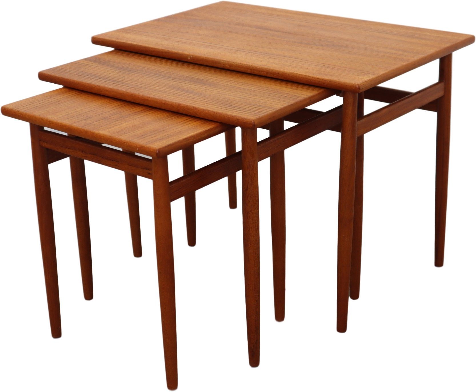 Set of Three Side Tables, Denmark, 1960s
