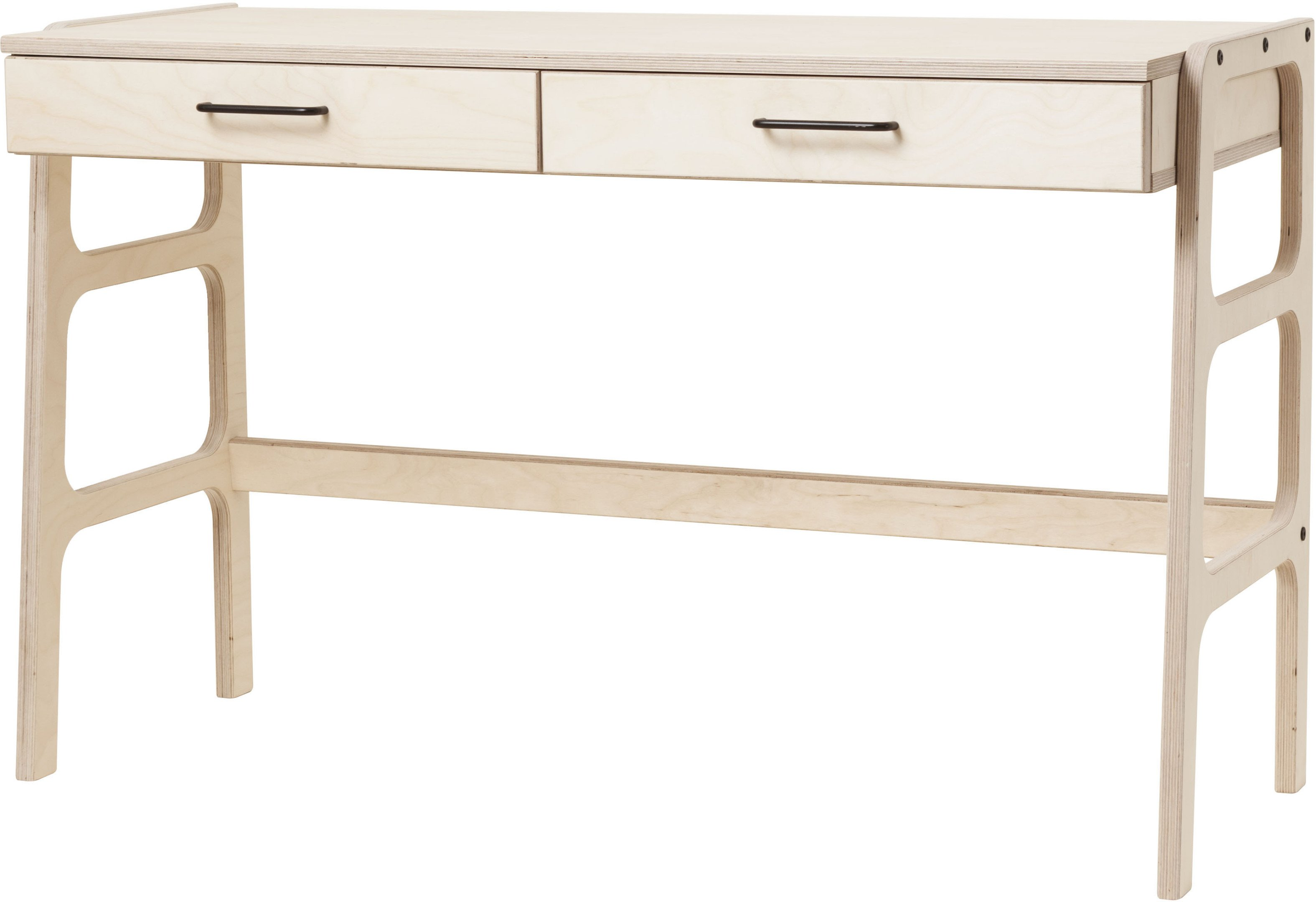 Frisk Desk with Drawers Light Brown, Plywood Project