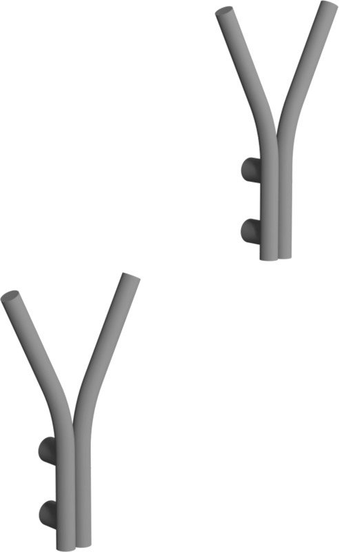 Pair of Single Shift Coat Racks Grey by A. Nowak, LOFT Decora