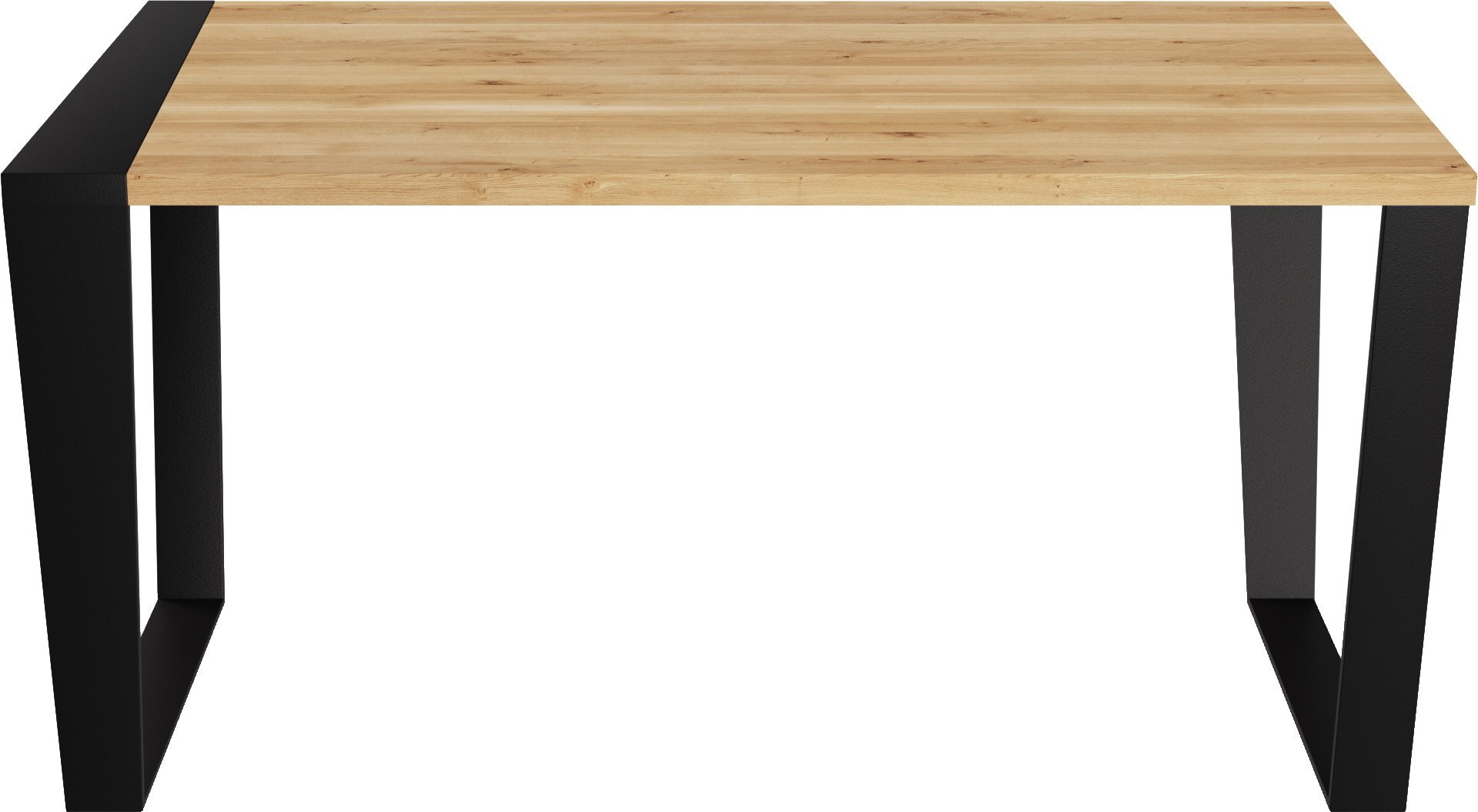 SGW Scheme Table Natural Oak/Black Steel by S. Gulewicz-Wysocka for LOFT Decora