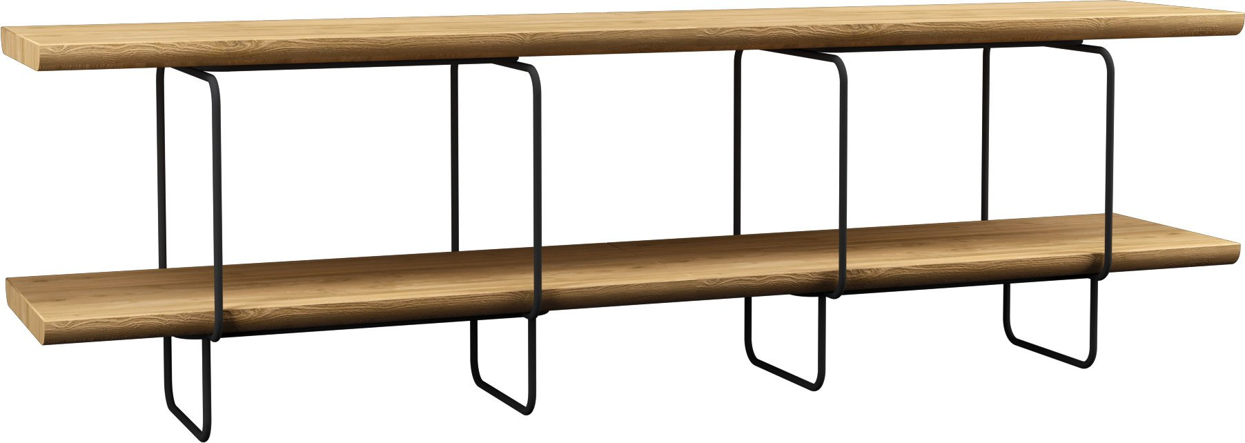 Grop IV Wall Unit Natural Oak/Black Steel by B. Pawlak & Ł. Stawarski for LOFT Decora