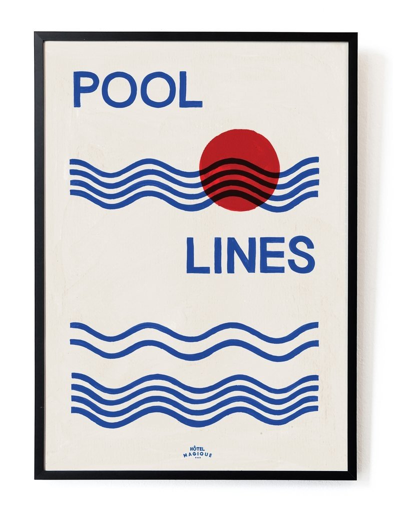 Poster Pool lines 42x29.7 by M. Neelen
