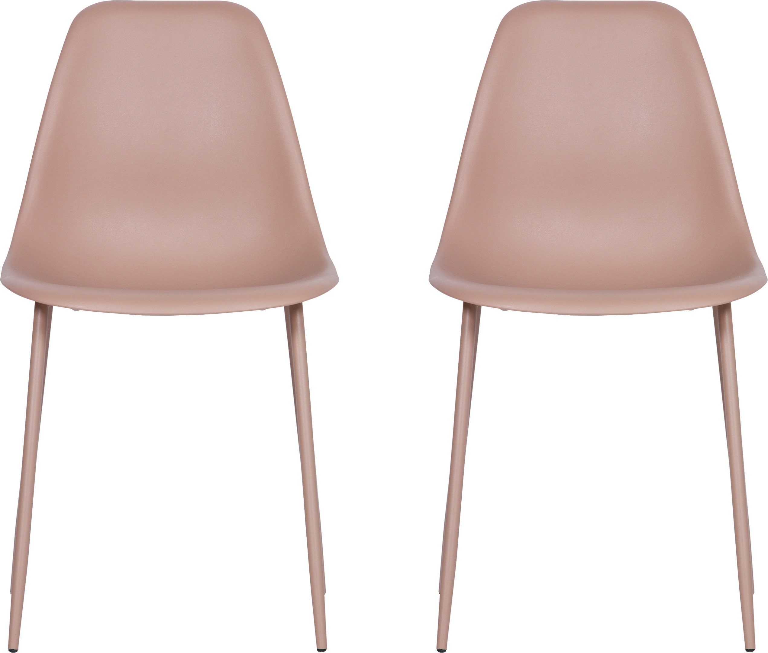 Pair of Lexi Dining Chairs Pink, Woood