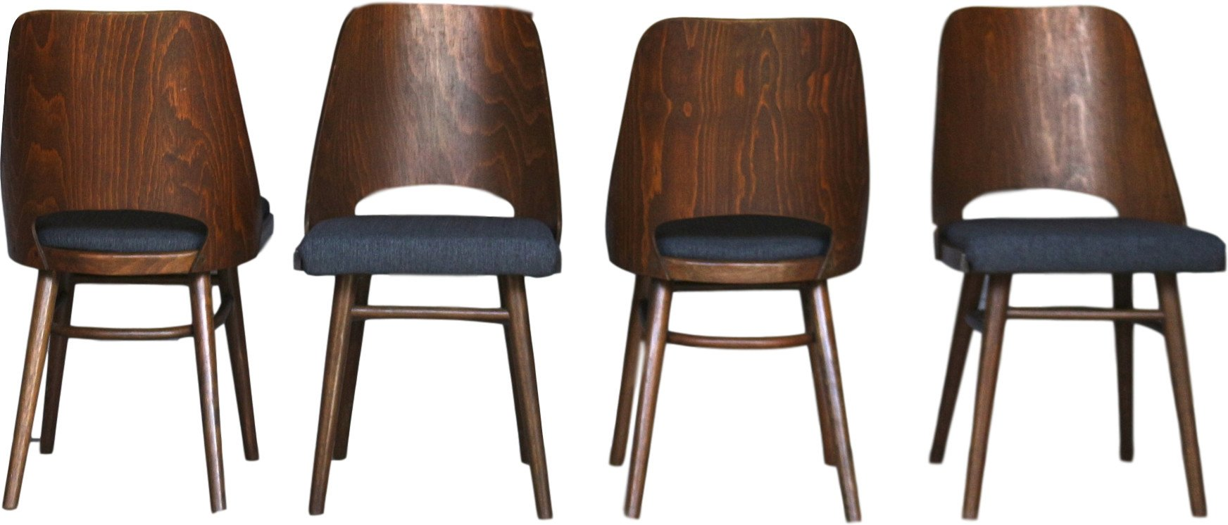 Set of Four Chairs, TON, Czechoslovakia, 1960s