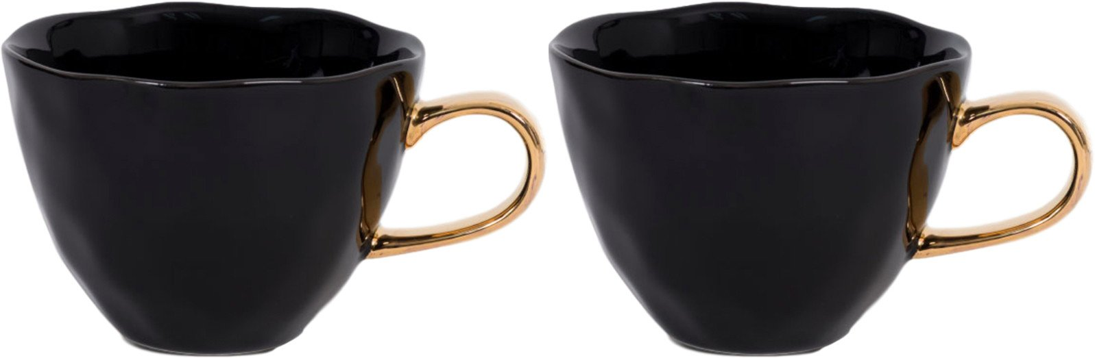 Pair of Good Morning Cups 350 ml Black, Urban Nature Culture
