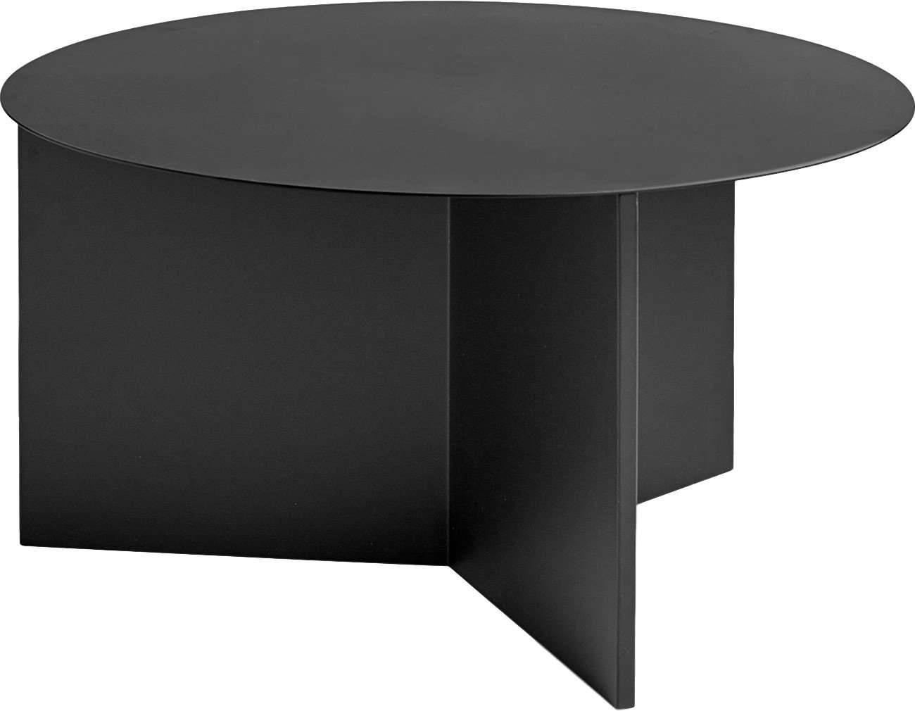 Slit Side Table Round XL Black, HAY