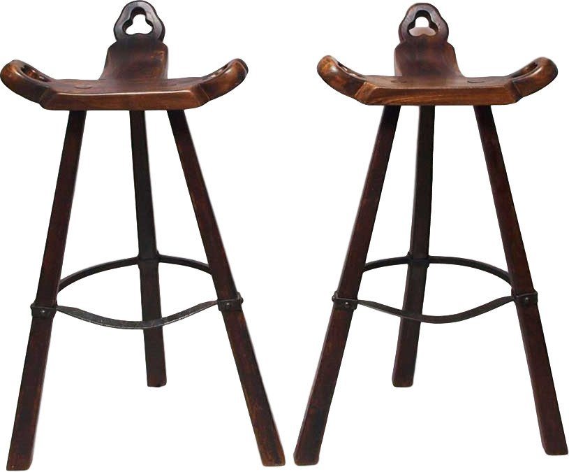 Pair of Bar Stools, Spain, 1970s