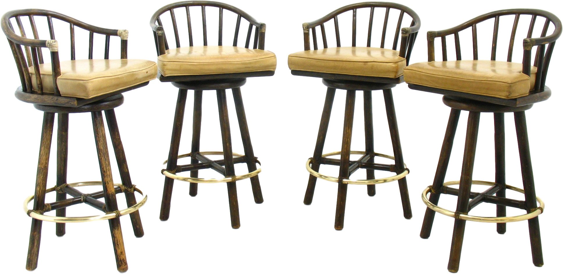 Set of Four Bar Stools, United States of America, 1970s