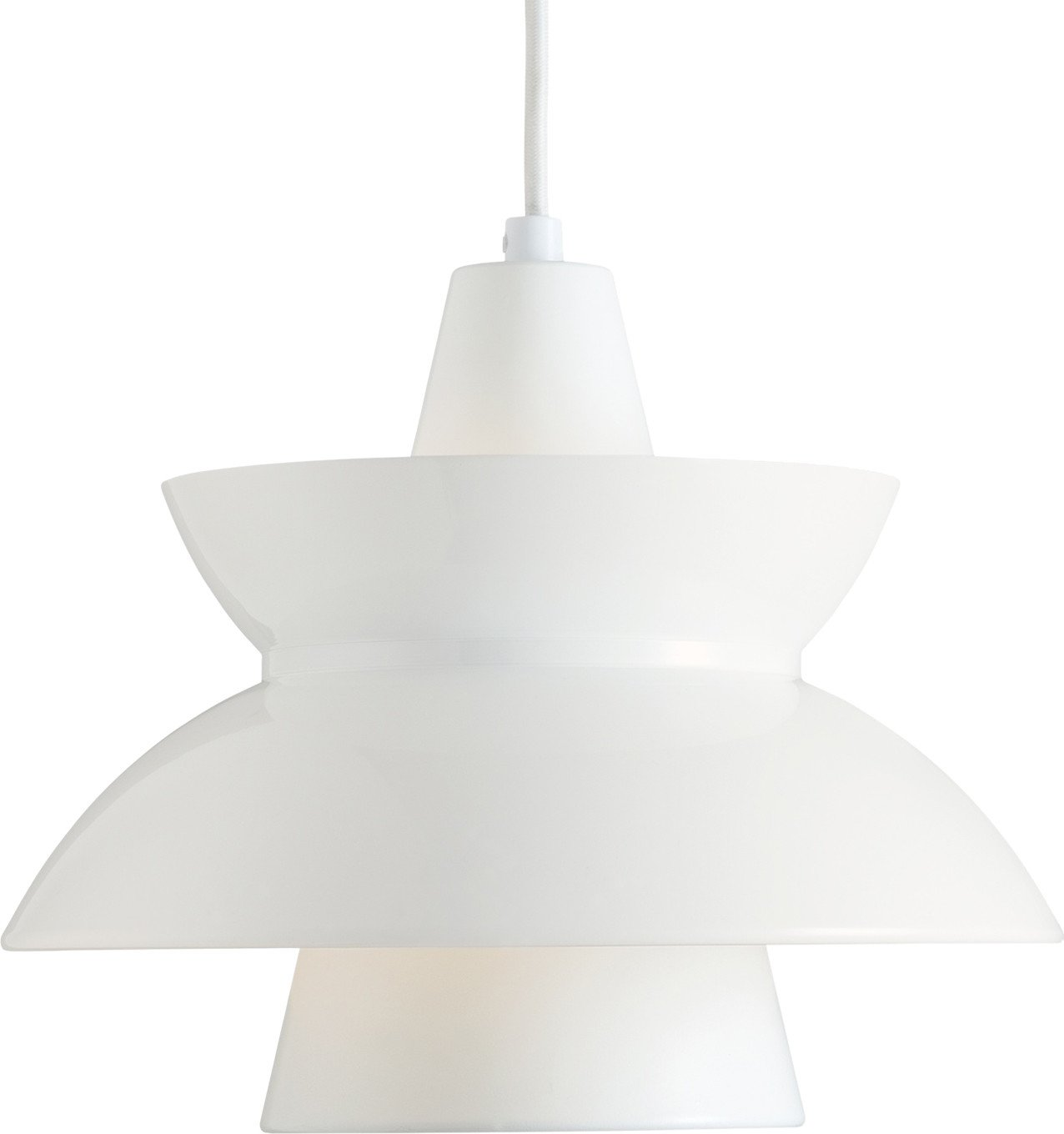 Doo-Wop Pendant Lamp White by A. &. Navy Buildings Department for Louis Poulsen