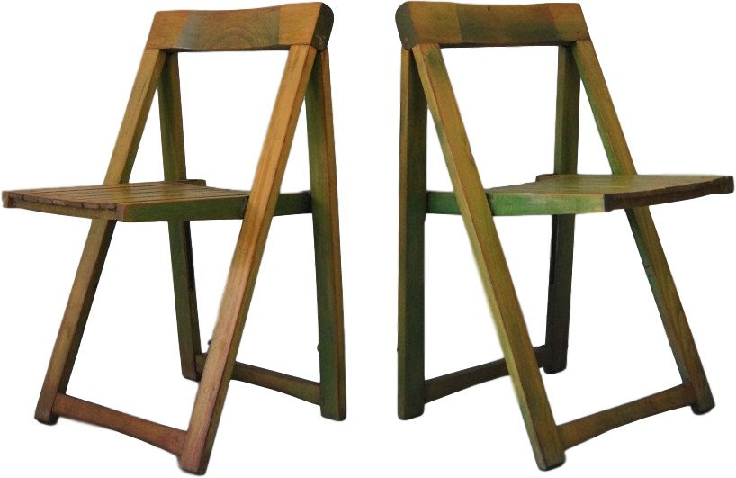 Pair of Chairs by A. Jacober for Alberto Bazzani, Italy, 1960s
