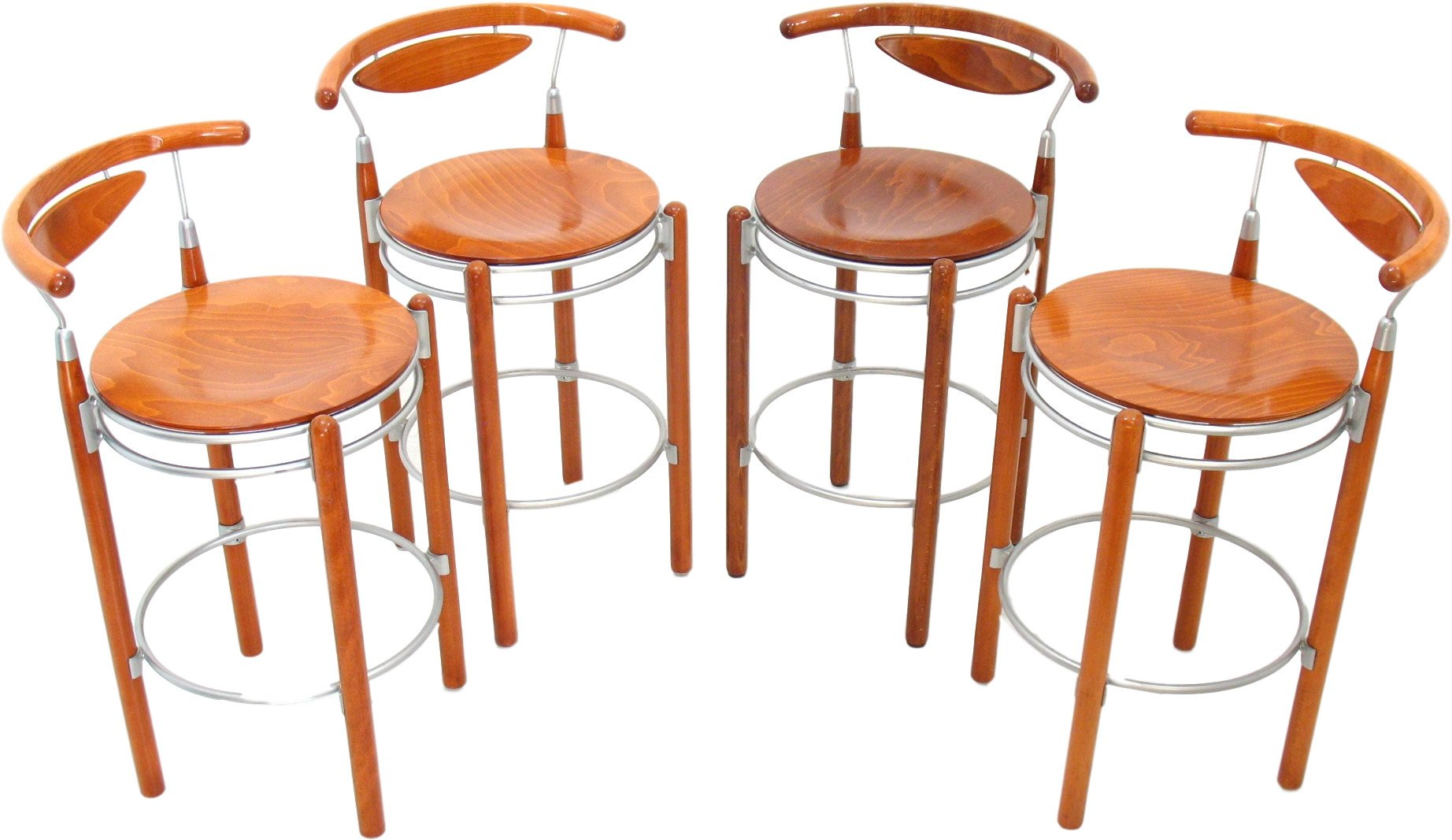 Set of Four Bar Stools, Hutten, 1990s