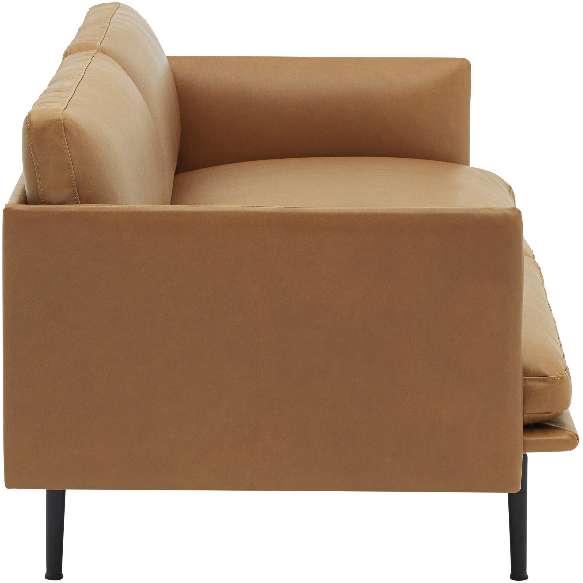 Sofa Outline 2-seater Black/ Refine Leather Cognac by Anderssen & Voll for Muuto - 496391 - photo