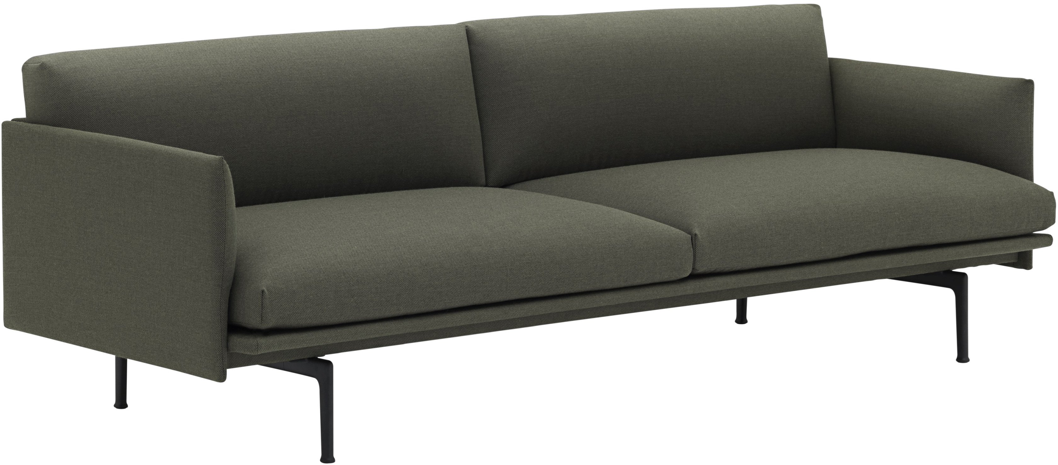 Sofa Outline 2-seater Black/ Remix 163 by Anderssen & Voll for Muuto - 496437 - photo