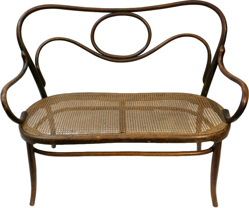 Bench, J&J Kohn, early 20th C.